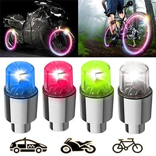 Hangang Pneu de voiture de roue lumi/ères 4PCS auto /Énergie solaire Power Flash Air Bouchon de valve LED Pneu lumi/ère d/étecteurs de mouvement pour auto motos v/élos