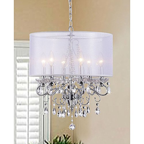 Elegant Style And Gorgeous 6-Light Drum - Heights Mall Sterling