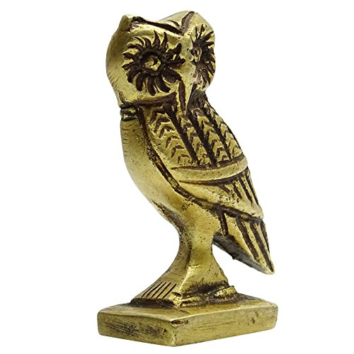 Small Owl Indian Bronze Sculpture Figurine Handmade Home Decor Statue Antique