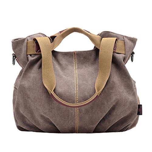 Women's Casual Vintage Hobo Canvas Daily Purse Top Handle Shoulder Tote Shopper Handbag
