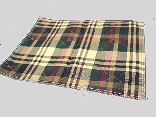 10P 34x36 Plaid Reusable Washable Underpad Bed Pad Hospital Incontinence Adult