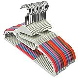 IPOW Heavy Duty Hangers Non-Slip Clothes Hanger Update New ABS (40 PCS) ...