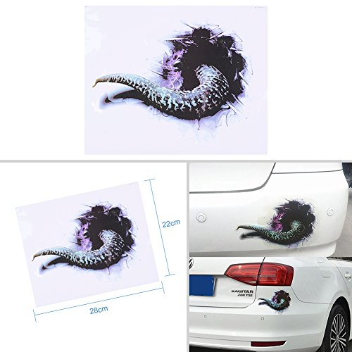 ATMOMO Monster Tail Terror Stickers DIY Car Body Sticker Vinyl Car Sticker for Happy -