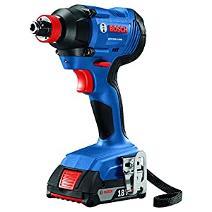 Bosch GXL18V-232B22 18V 2-Tool Kit with 1/2 In. Compact Tough Drill/Driver, 1/4 In. and 1/2 In. Two-In-One Bit/Socket Impact Driver and (2) 2.0 Ah Batteries