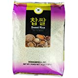 ROM AMERICA Sweet Rice Sticky Rice Glutinous Rice 4 Pound 찹쌀