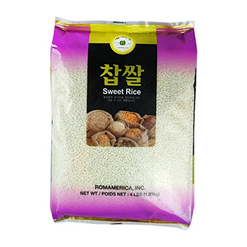 ROM AMERICA Sweet Rice Sticky Rice Glutinous Rice 4 Pound 찹쌀 by ROM AMERICA