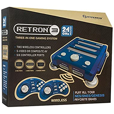 Hyperkin RetroN 3 Video Game System for NES/SNES/GENESIS Console 2.4Ghz Edition - Bravo Blue