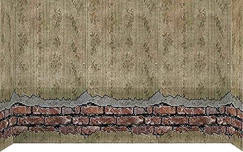 Forum Novelties Ghostly Spirits Decor Corroded Wall Backdrop, (Border Scena)