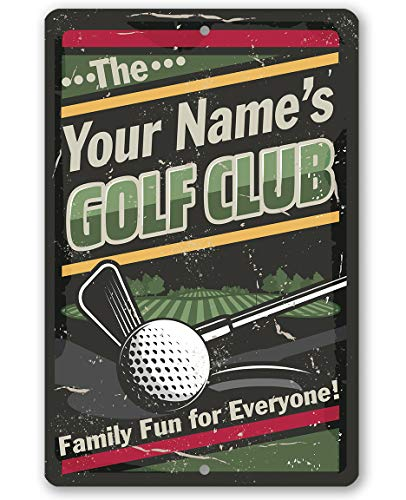 - Personalized Golf Club Metal Sign - Durable Metal Sign - 8