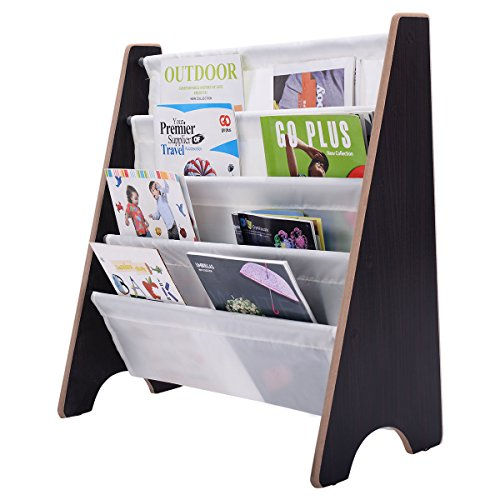 kids-sling-bookshelf-storage-rack-organizer-bookcase-display-holder-coffee-new