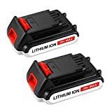 Topbatt Replace for Black and Decker 20V Battery 3.0Ah Lithium Ion Max LBXR20 Cordless Tools 2-Pack