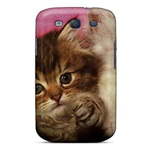Cute Appearance Cover/tpu OgCmmMd1745WDlkb Two Kittens In A Tin Can Case For Galaxy S3