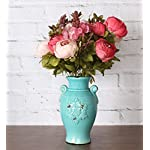 Duovlo-Fake-Flowers-Vintage-Artificial-Peony-Silk-Flowers-Wedding-Home-DecorationPack-of-1-Dark-Pink