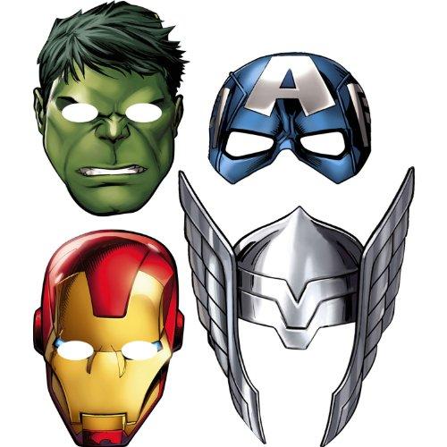 Hallmark Avengers 'Assemble' Paper Masks (8ct)]()