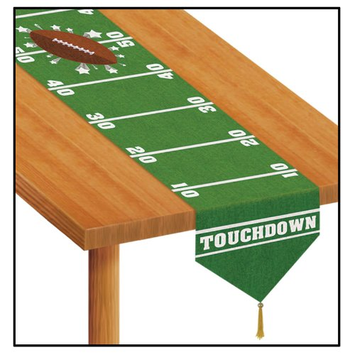 Printed Game Day Football Table Runner Party Accessory (1 count) (1/Pkg)