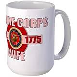 CafePress - Marine Corps Wife Large Mug - Coffee Mug, Large 15 oz. White Coffee Cup