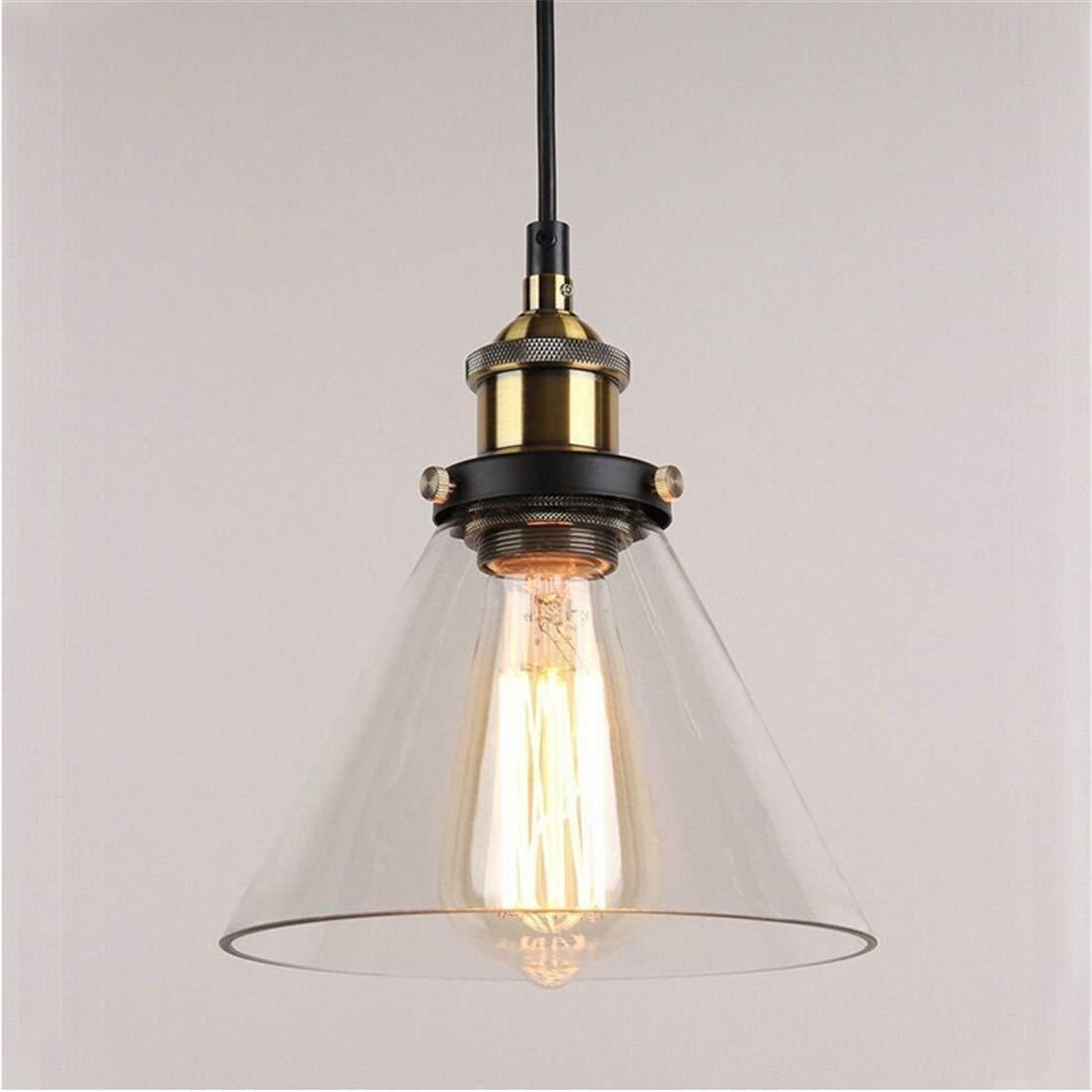 2 paket Vintage Industrielle Trichter Glas Lampenschirm Deckenpendelleuchte Für Home Office Schlafzimmer Kaffee