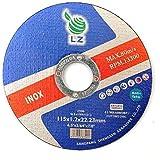 Disco de Corte Metal 115mm x 1mm x 22mm por LZ - pack de 25,