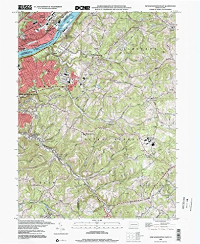 YellowMaps New Kensington East PA topo map, 1:24000 Scale, 7.5 X 7.5 Minute, Historical, 1998, Updated 2000, 26.7 x 21.9 in - -
