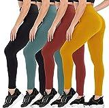 4 Pack Leggings for Women Butt Lift - High Waisted