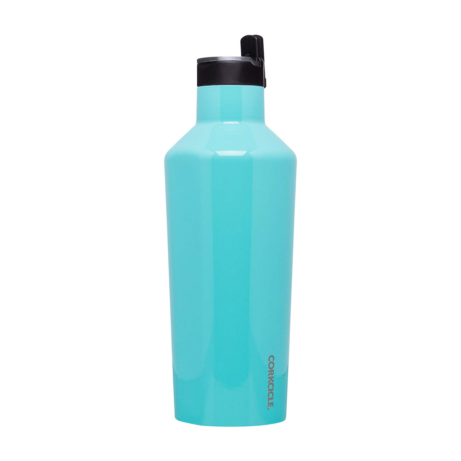 Corkcicle Canteen Sport Collection - Water Bottle & Thermos - Triple Insulated Shatterproof Stainless Steel, 40oz, Gloss Turquoise by Corkcicle