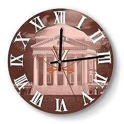 Wall Clock Modern Virginia-Cavaliers-Basketball-Orange- Style Mute Digital Clock for Living Room