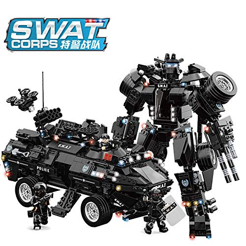 WO&MA The Special Arms Swat Bricks Toy Sets (Amphibious Armored Vehicle C0551)(No Original Box)