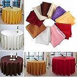 Bazaar 200cm Polyester Absorbent Round Tablecloth For Hotel Restaurant Wedding Decor