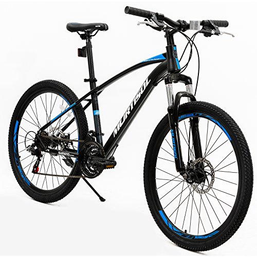 Murtisol Mountain Bike 26'' Hybrid Bicycle with Dual Disc Brake,21 Speeds Derailleur, Designed Cool Frame, Adjustable Seat in 3 Colors
