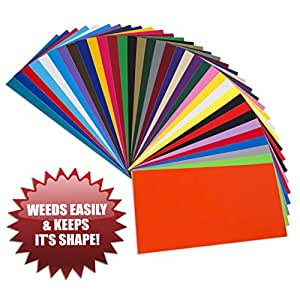 Permanent adhesive easy to weed release vinyl 35 sheets for Ez craft usa vinyl