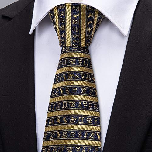 Barry.Wang - Corbata - Hombre Dorado Oro 5173 Talla única: Amazon ...