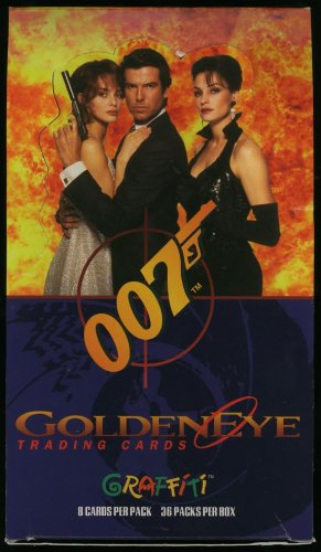 James Bond 007 Golden Eye Movie Trading Cards Box (empty)