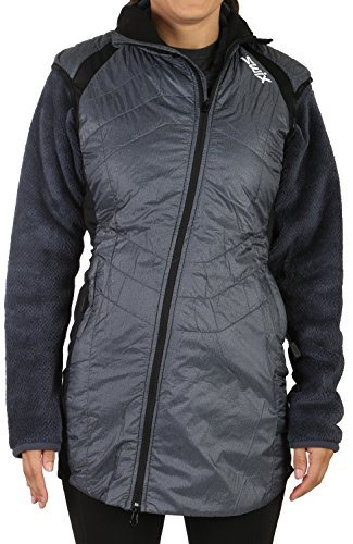 - Swix Menali Quilted Vest - Women's Heather/Charcoal, M