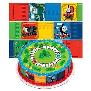 Edible Thomas Cake Decoration : Amazon.com: Thomas the Train Designer Prints Cake Edible ...
