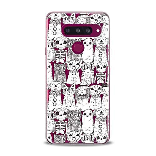 Lex Altern LG TPU Case Stylo 4 K11 G7 ThinQ G6 V40 V35 Plus V20 Q8 K8 Pencil Drawing Cats Clear Cover Print Black White Protective Women Soft Silicone Transparent -