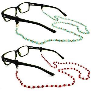 Peeper Keepers Czech Beads & Chains, Eyeglass Retainer, Assortment(6), 2pk mix, w/Cloth & Screwdriver by Peeper Keepers