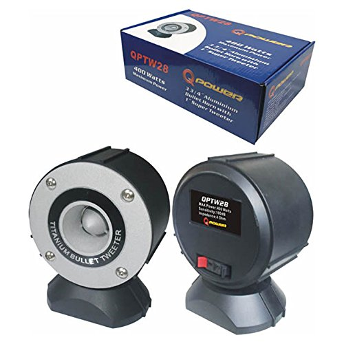 Qpower Super Tweeter 400 Watts Pair packed with Stand