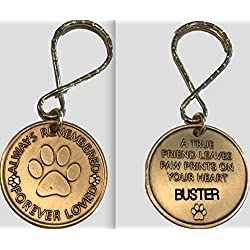 Personalized Pet Name Memorial Keychain Engraved Always Remembered Forever Loved Token