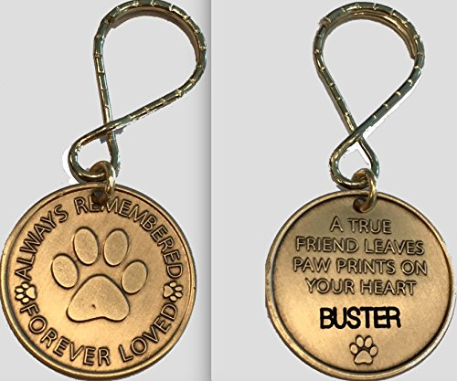 Personalized Pet Name Memorial Keychain Engraved Always Remembered Forever Loved ()