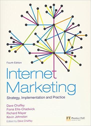 Internet Marketing: Strategy, Implementation and Practice: Chaffey, Dave, Ellis-Chadwick, Fiona, Mayer, Richard, Johnston, Kevin: 9780273717409: Amazon.com: Books