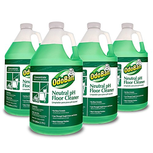 Rinse Concentrate - OdoBan Professional Series No Rinse Neutral pH Floor Cleaner Concentrate, 4 Gal