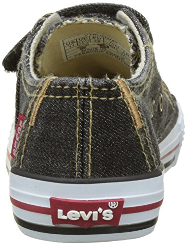 Basses Levi's Garçon Black Noir Denim Kids Original Low Tab Baskets Velcro Red rr0F87q