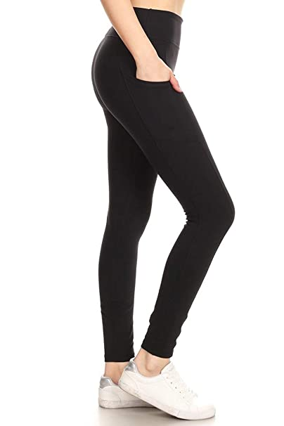 b95564d1e3 Leggings Depot High Waisted Leggings -Soft & Slim - Solid Colors ...