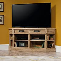 Sauder Viabella Corner TV Stand in Antigua Chestnut