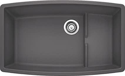Blanco 441476 Silgranit II Preforma Cascade Sink Cinder Blanco Cinder Sink N39