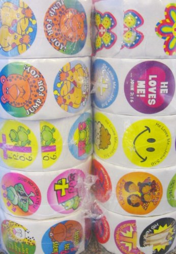 Fun Express Religious Sticker Assortment (10 Roll)