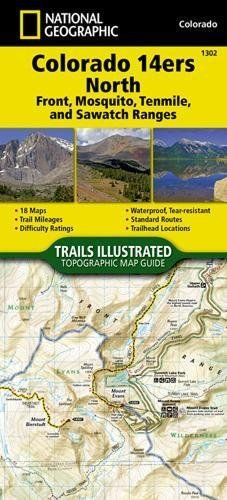 Colorado 14ers North [Sawatch, Mosquito, and Front Ranges] (National Geographic Topographic Map Guide) (Front Range Map)