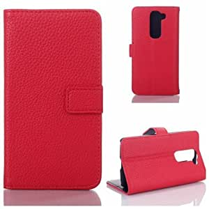 Wkae? Pocket Book Series LG G2 Mini Wallet Case With Flip Cover & Stander By Diebell (Red)