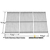 Stainless Steel Cooking Grid For Charbroil 463440109, 4362436214, 463420507, 463420508, 463420509, 463420511, 463436213, Shinerich Kingston SRGG51111, Henderson SRGG51111, Kenmore 463420507 Gas Grill Models, Set of 3