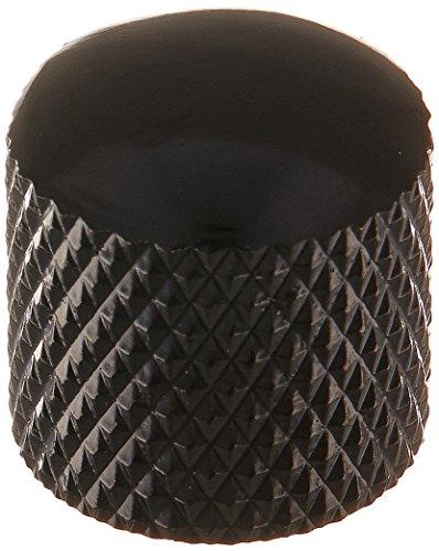 Kmise 4pcs Guitar Dome Control Knobs Black for Fender Tele Replacement ()